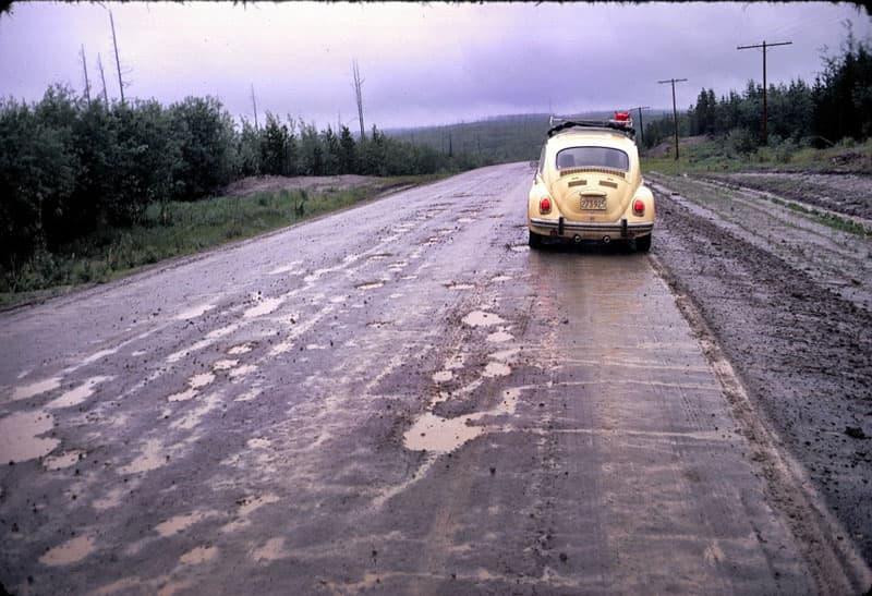 1971 Alaska trip with VW Beetle