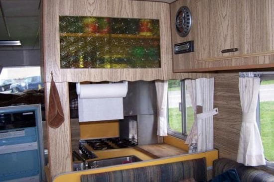 Chinook Camper's Interior, taken by Sally Stomberg