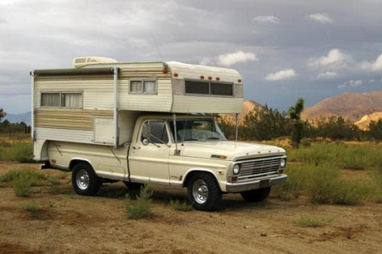 1969 Ford F-250 Camper Special and 1970 Roll-A-Long Sportster, Owned By Jack Purdy