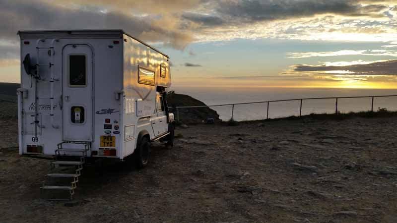 Northstar Camper enjoying the Nordkapp Sunset
