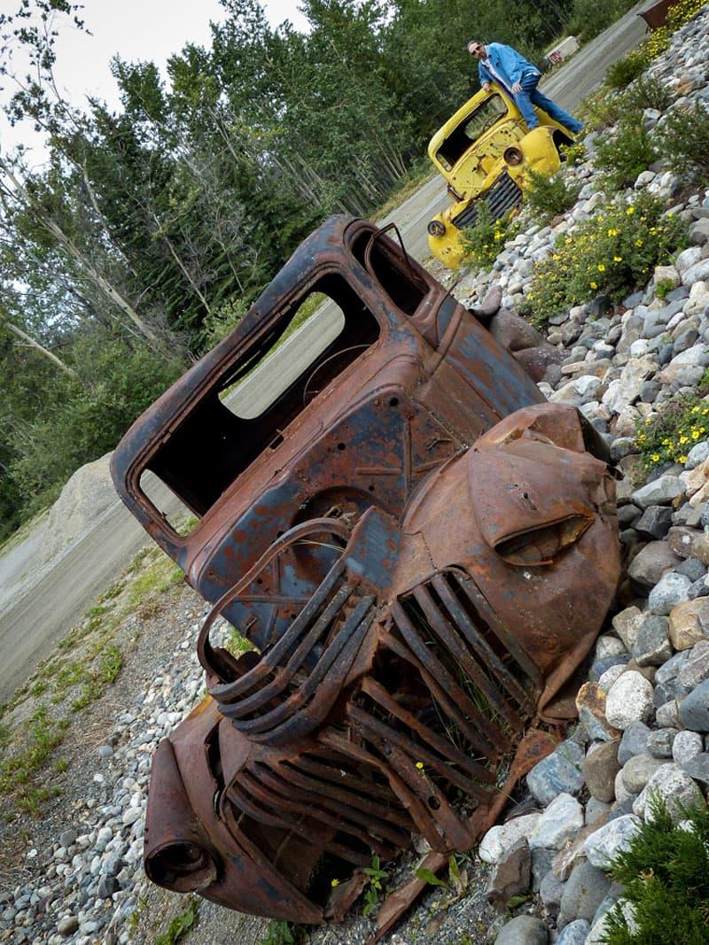 Johnson City Yukon Abandoned highway Construction Vehicle