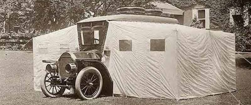 1920s Fold Out Truck Campers