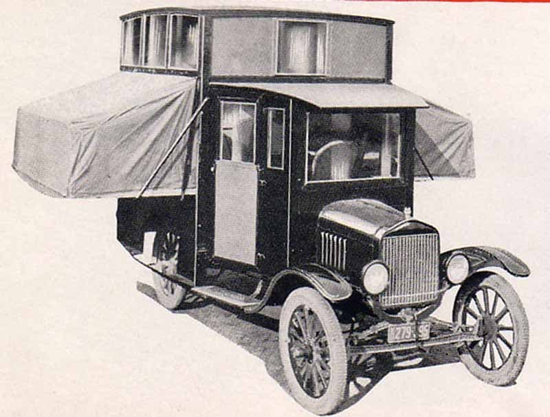 1920s Pop Up And Out Camper