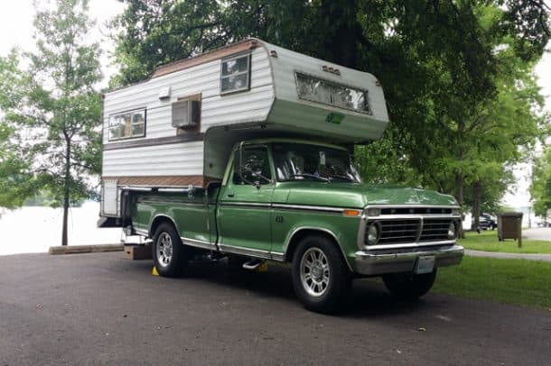 1973 Ford F250 and 1970 Mitchell 11' Camper, Owned by Patrick Loveless