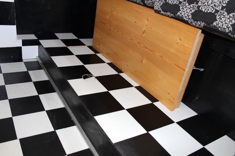 1972 Tiltin Hiltin checkerboard floor