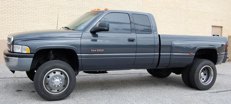 Ram 3500 with Rickson tires and wheels