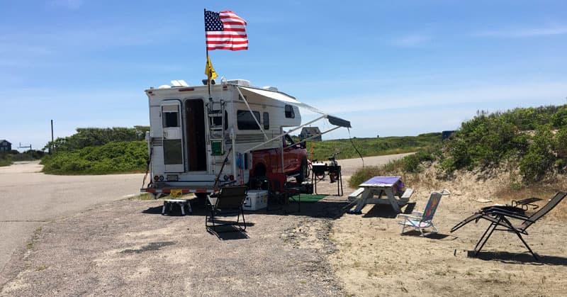 2005 Lance 1030 Campsite Setup