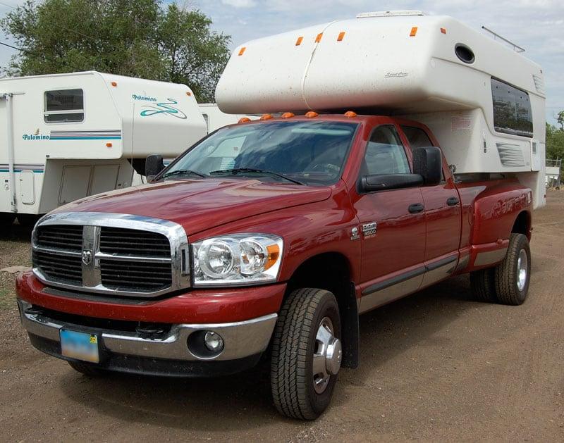 Sport Cam Camper Loaded On Truck