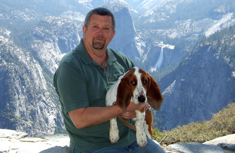 Frank And Scout In Yosemite National Park