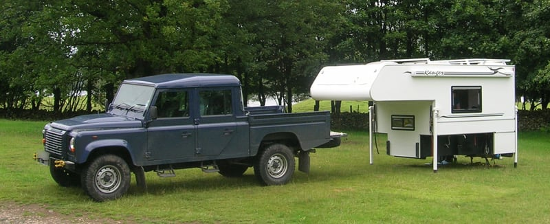 Ranger Camper Off Land Rover Pick Up Truck