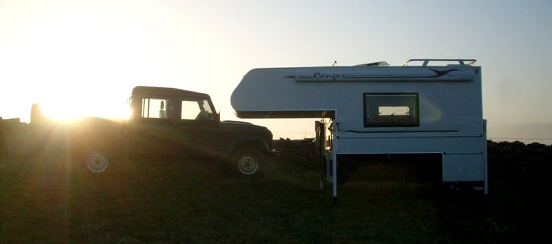 Sunset Camper Off Landrover Truck
