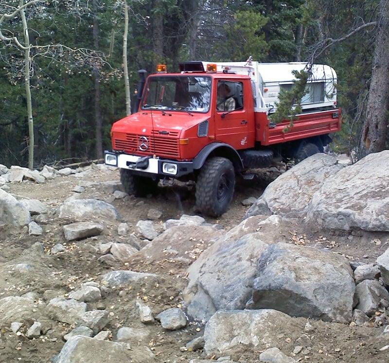 Boulder Driving Unimog Camper