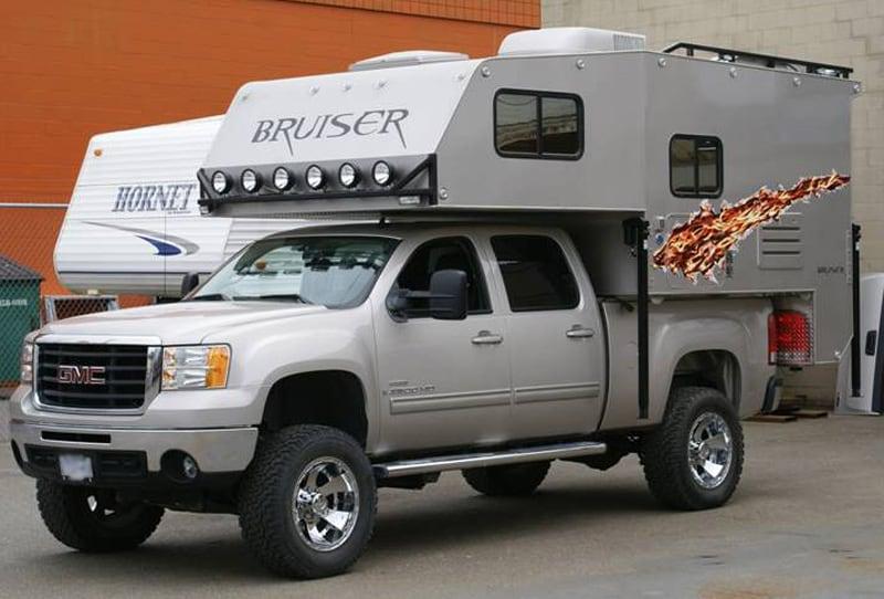 Bruiser Camper And GMC Truck