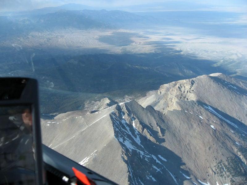Gliding Close To Mountains