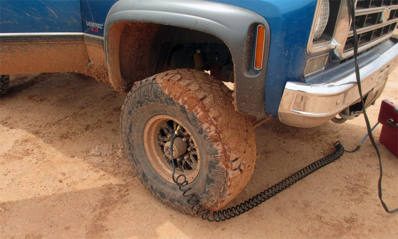 Airing Up Tires Off Road