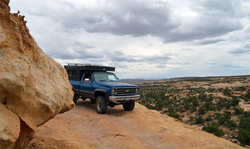 Side Of Cliff Trail Utah
