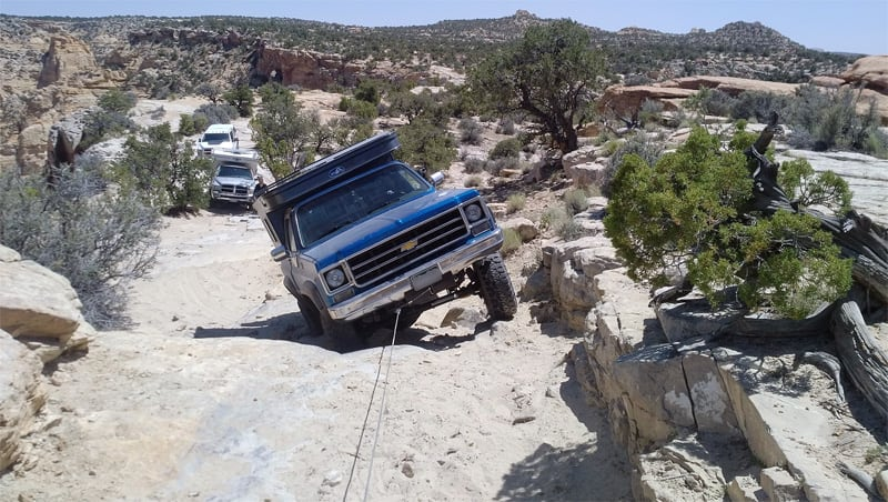 Winching Up The Rig Trail