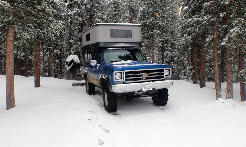 Winter Camping Phoenix Popup Camper