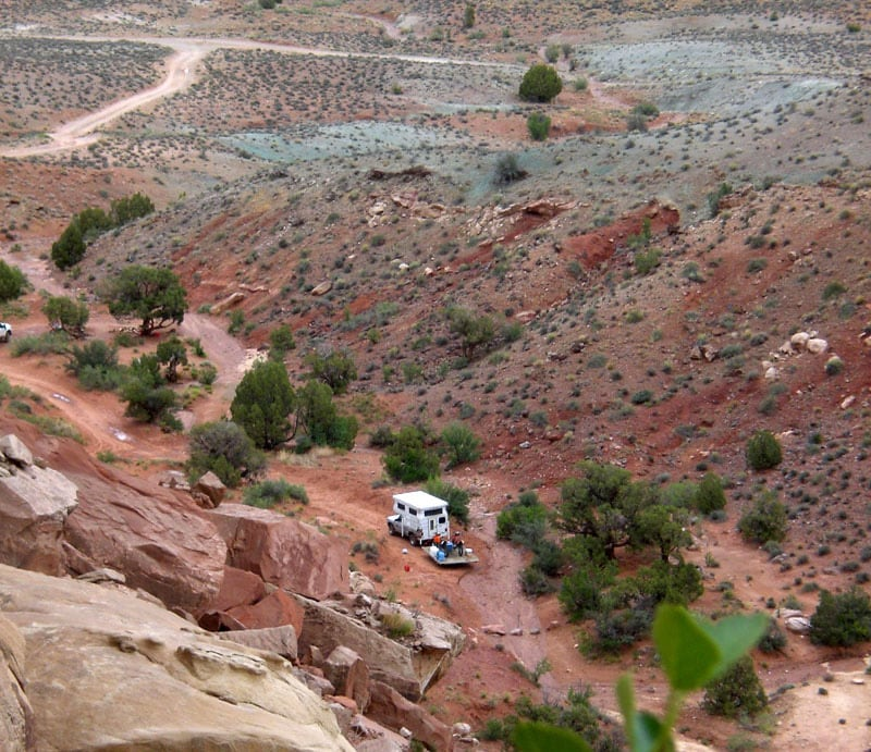 Camping In Moab Canyon in Utah