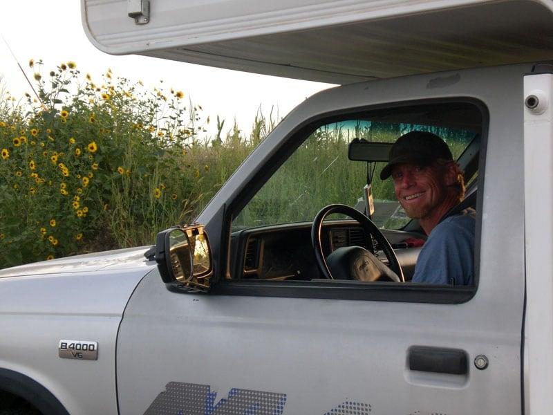 Patrick In His Mazda Truck