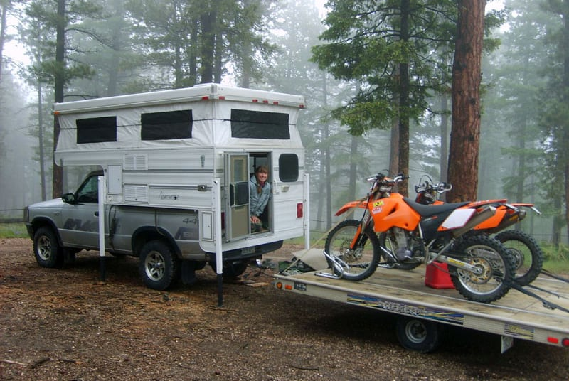 Two Dirt Bikes Towing With Northstar Camper