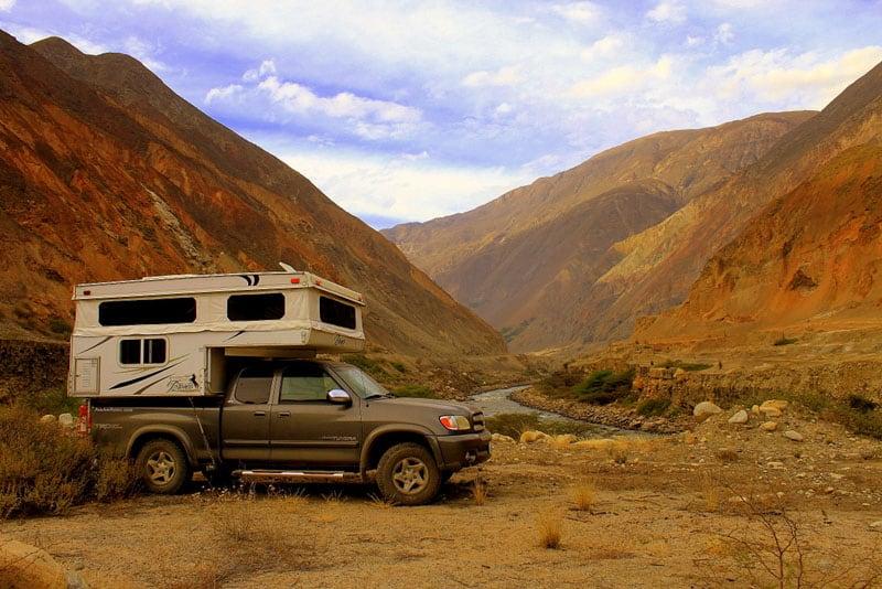 Bush Camp In The Canyon Del Pato Peru
