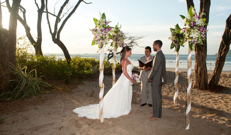 Getting hitched on Playa Langosta in Costa Rica