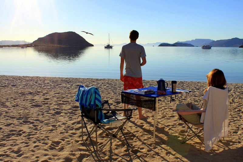 Morning Coffee In Paradise Baja Conception Mex Sea Of Cortez