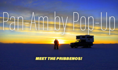 Pam-Am in a Palomino pop-up truck camper