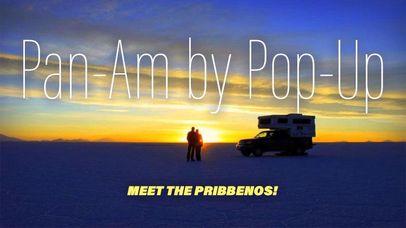 Pam-Am in a Palomino pop-up truck camper