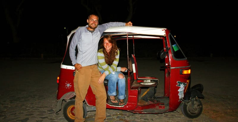 Riding A Tuk Tuk Back To Camp In Panachel Guatemala