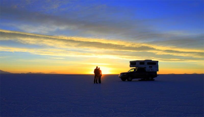 Salar De Uyuni Southwest Bolivia Sunset
