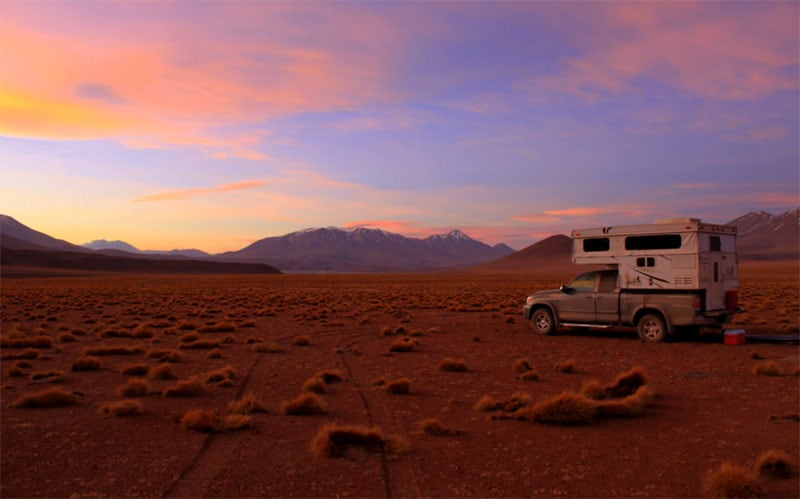 Sunset South America