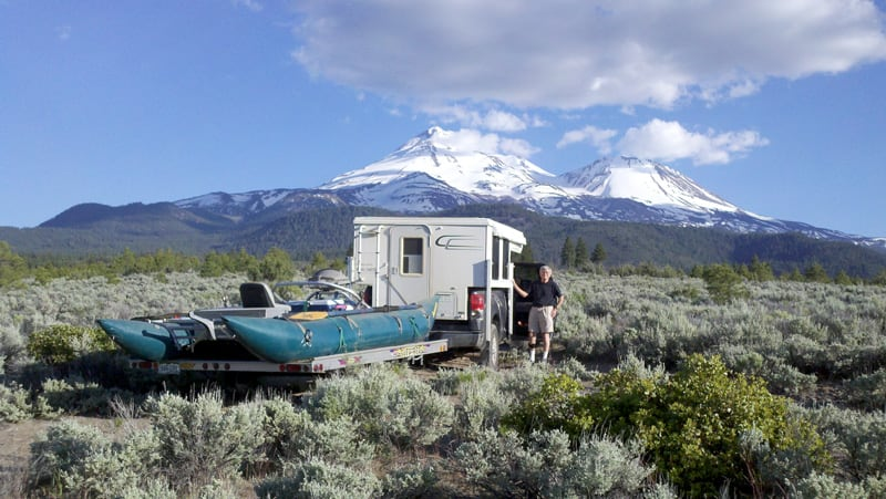 Camping On BLM North Of Mt Shasta