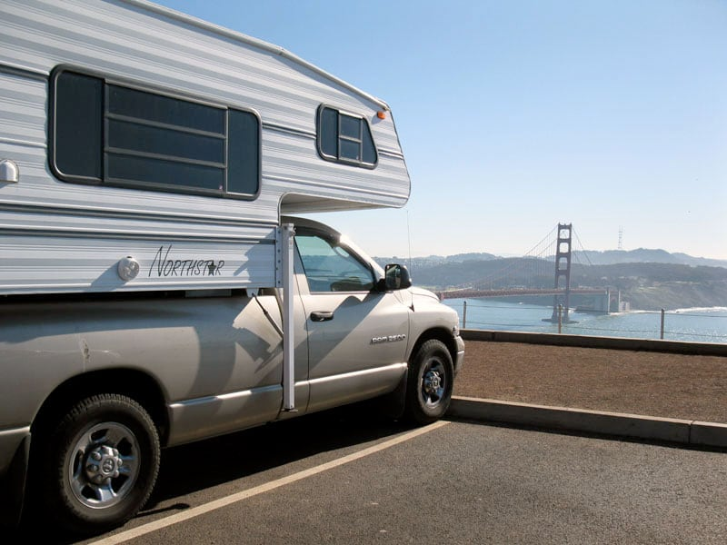 Golden Gate Bridge San Francisco With Camper