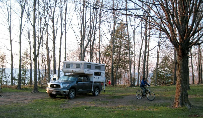 National Forest Campground Lake Superior, Michigan