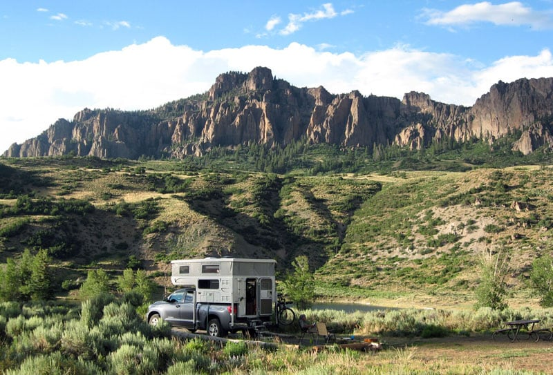National Forest Campground Near Blue Mesa Reservoir, Colorado