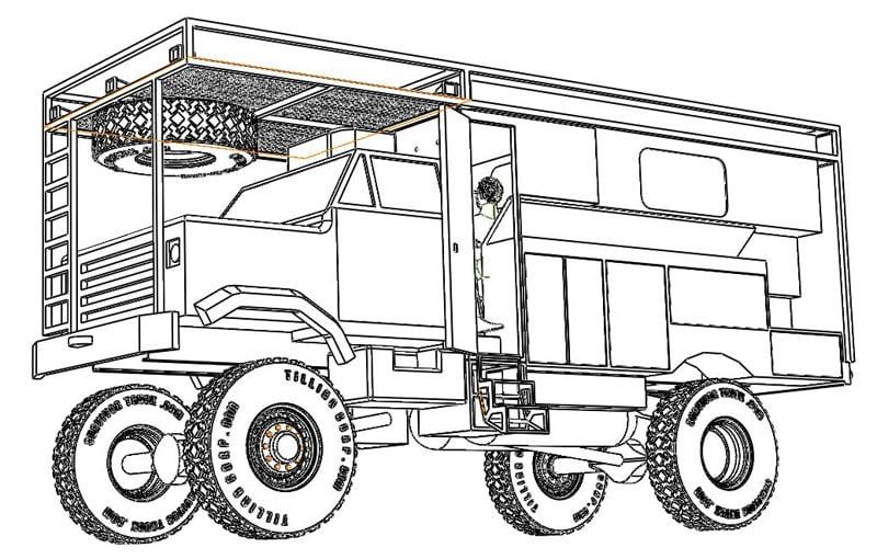 Survivor Truck Drawing