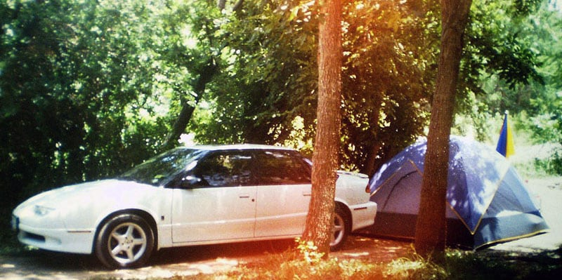 Cindy's First Camping Trip Tenting
