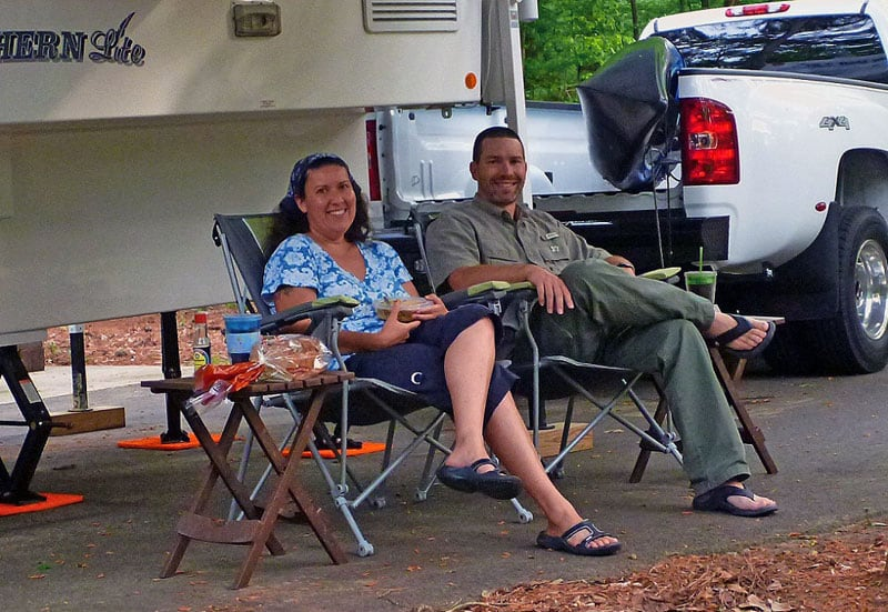 Happy Hosts At State Park