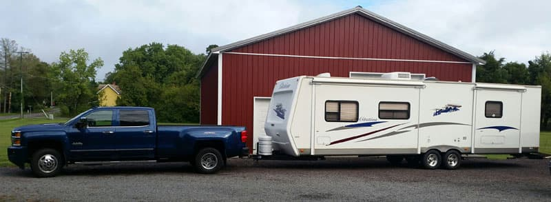2015 Chevy 3500 Dually with travel trailer