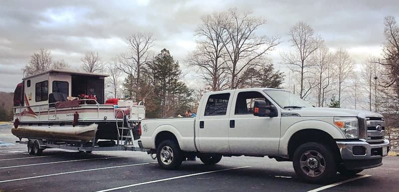 2015 Ford F 250 Super Duty Towing Boat