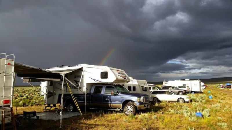 Lance Camper Rocket Launcher Dry Camp Field