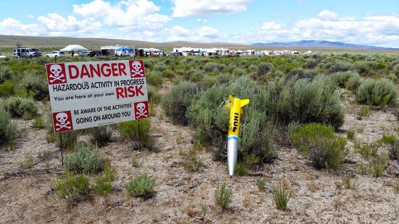 Hazardous Activity Rocket Launcher Danger Sign