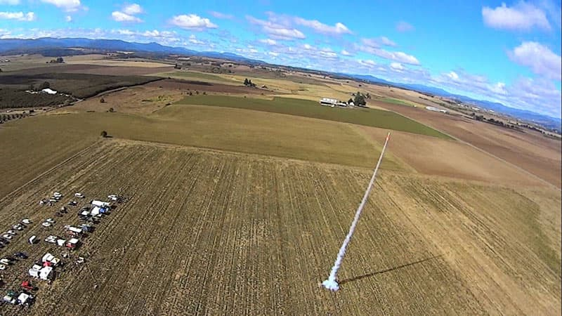 Rocket Launch Drone Photo