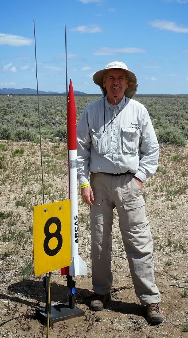 Rocket Launcher Gary Lech ARCAS On The Pad
