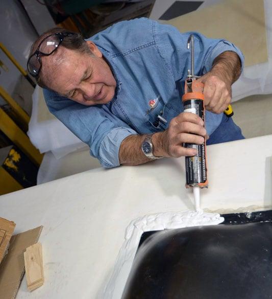 Bill Ward, Hallmark RV, Helps With Caulking