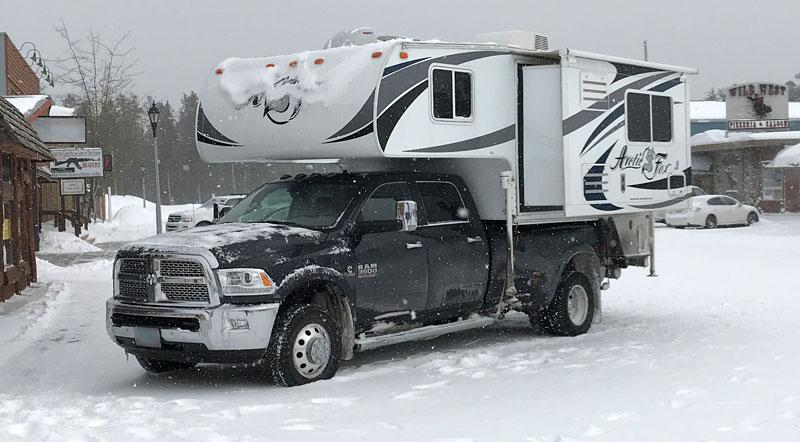 Arctic Fox 992 On Ram 3500 Dually Snow