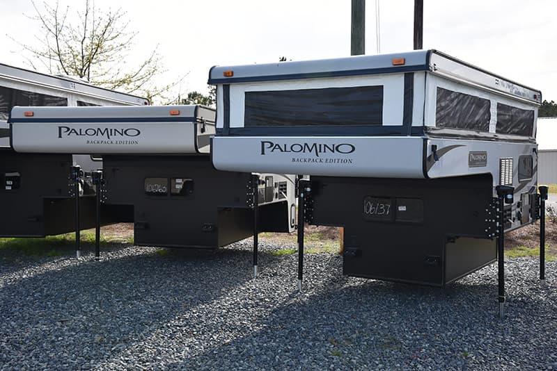 Palomino Pop-Up Campers at dealership