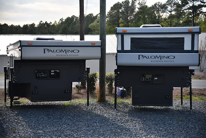 Palomino pop-up versus popped-down